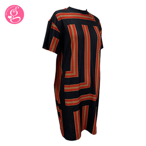 Easy Fit T-Shirt Dress Random Stripes