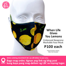 Luxe Embossed Neoprene Printed Filter Pocket Face Cloth - Sold P100 Per Piece - LIMITED EDITION PRINTS - choose your design from the menu