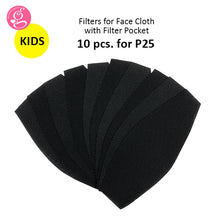Filter Pack for Face Mask P25/10 pcs - Washable, Reusable, Adult or Kids