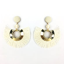 Fancy Tassel Fan Earrings