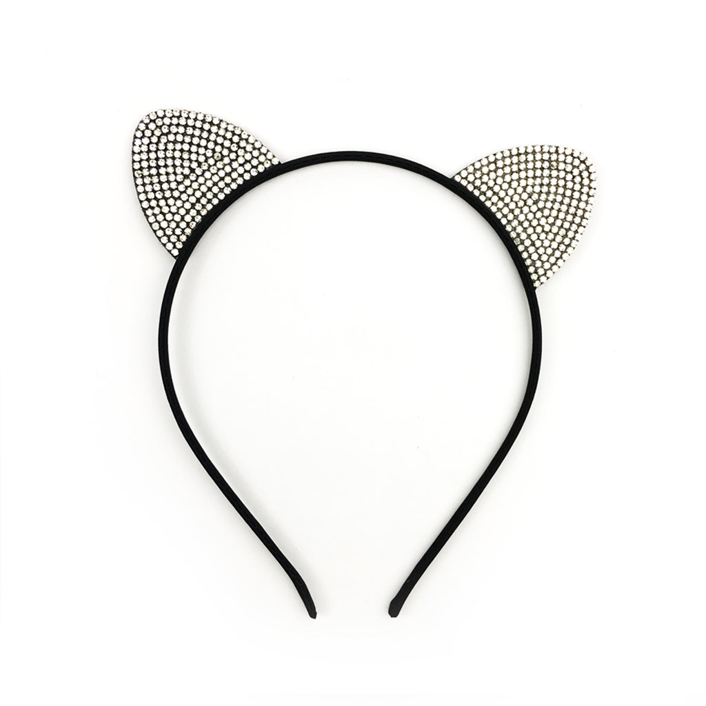 Crystal Trim Cat Headband