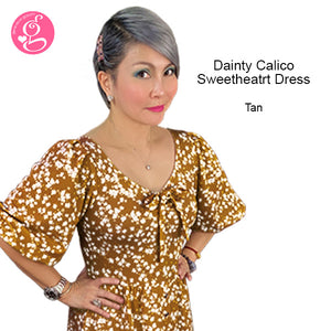 Dainty Calico Sweetheart Dress