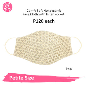 Comfy Soft Honeycomb Petite Face Cloth with filter pocket