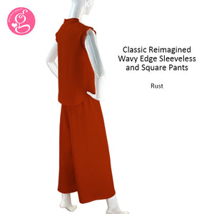Classic Reimagined Wavy Edge Sleeveless and Square Pants
