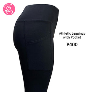 Athletic Leggings with Side Pocket High Waist