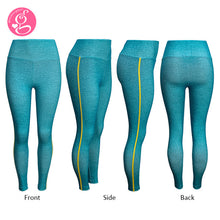 Perfect High Waist Leggings Ash Teal with Side Stripe