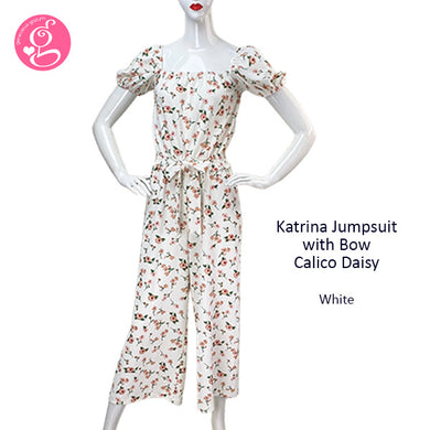 Katrina Jumpsuit with Bow Calico Daisy