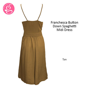 Franchesca Button Down Dress (2 styles to choose from)