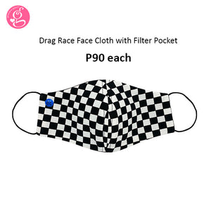 Drag Race Face Cloth with filter pocket