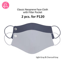 Classic Plain Neoprene Mask With Filter Pocket Unisex - Adult Size 2 pcs for P120