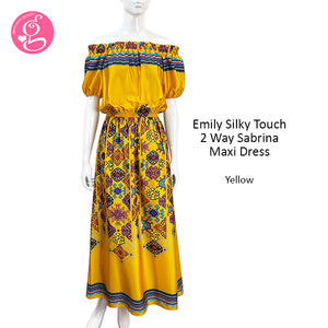 Emily Silky Touch 2 Way Sabrina Maxi Dress