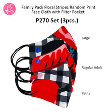 Family Pack Printed Premium with filter pocket (P270 for 3 pcs)