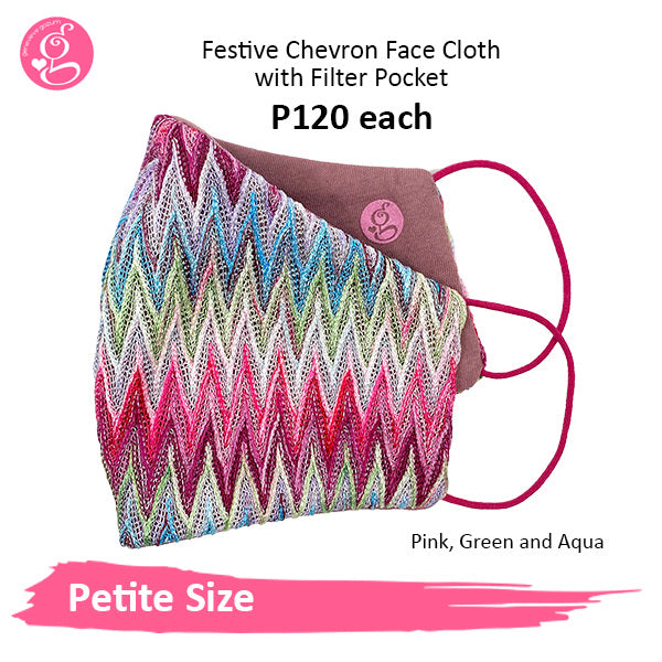 Petite Festive Chevron 3 layers with filter pocket