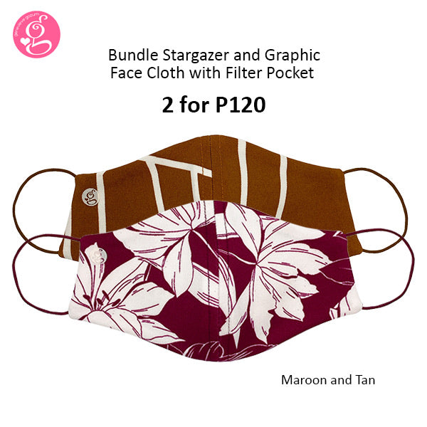 BUNDLE Stargazer and Graphic Printed with filter pocket (2 pcs for P120)