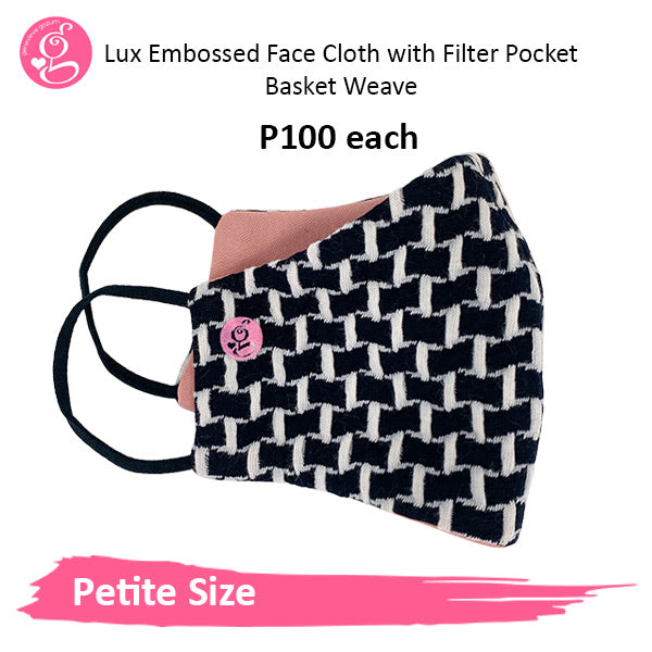 PETITE FACE Luxe Embossed Neoprene Printed Filter Pocket Face Cloth - Sold P100 Per Piece - LIMITED EDITION PRINTS - choose your design from the menu