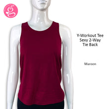 Y-Workout Tee Sexy 2-Way Tie Back
