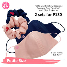 BUNDLE PETITE MARSHMALLOW PLAIN NEOPRENE with SCRUNCHIE (P180 for 2 sets)