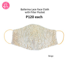 Ballerina Lace 3 layers Face Mask with filter pocket (regular size)