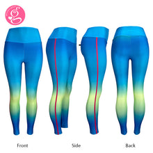 Y Workout Sea Breeze Set (Top and sexy control tummy leggings)