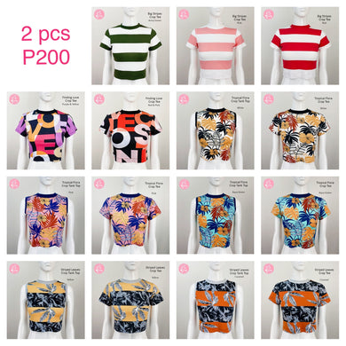 Printed Waisted Tops Buy One Take One (choose any 2 for P200)