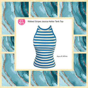 Stripes Ribbed Halter