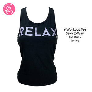 Y-Workout Arts On Tee Sexy 2-Way Tie Back