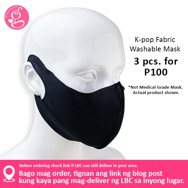 K-Pop Washable Fabric Face Cloth for Adults & Kids