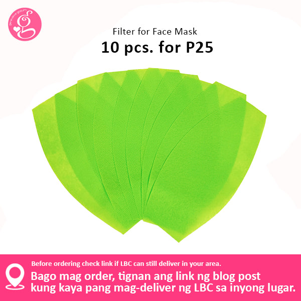 Filter Pack for Face Mask - Washable, Reusable