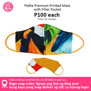 Petite Premium Printed Mask with Filter Pocket