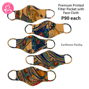 Premium Printed Filter Pocket Face Cloth - Sold P90 Per Piece - LIMITED EDITION PRINTS - choose your design from the menu (June Collection)