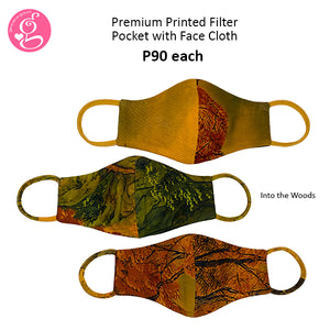 Premium Printed Filter Pocket Face Cloth - Sold P90 Per Piece - LIMITED EDITION PRINTS - choose your design from the menu (August Collection)