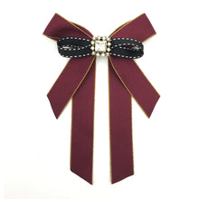 Vintage Brooch Bow Red