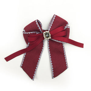 Vintage Brooch Bow Classic Red
