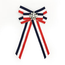 Vintage Brooch Bow Tri-color