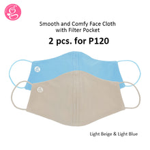Smooth and Comfy Plain Mask With Filter Pocket Unisex - Adult Size 2 pcs for P120