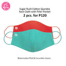SUGAR RUSH COTTON SUPER STRETCH PLAIN MASK adult size 2 pcs for P120