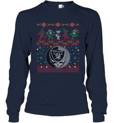 Oakland Raiders Christmas Grateful Dead Jingle Bears Football Ugly Sweatshirt Adult Unisex Long Sleeve T-Shirt
