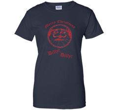 Merry Christmas Dilly Dilly Fun Santa Holiday T Shirt Ladies Custom - PresentTees