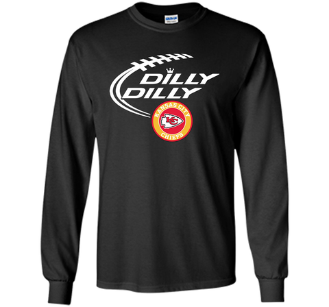 DILLY DILLY Kansas city Chiefs shirt Black / Small LS Ultra Cotton TShirt - PresentTees