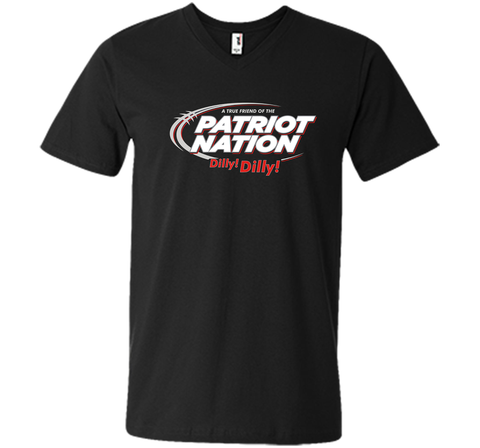 Patriot Nation Dilly Dilly T-Shirt Black / Small Men Printed V-Neck Tee - PresentTees
