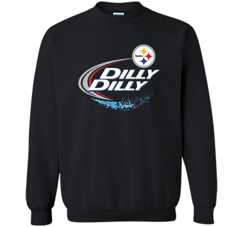 Pittsburgh Steelers Dilly Dilly T-Shirt NFL Football Gift Fans Black / Small Crewneck Pullover Sweatshirt 8 oz - PresentTees