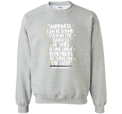 Harry Potter Happiness Can Be Found Shirt Crewneck Pullover Sweatshirt 8 oz - PresentTees