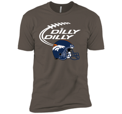 DILLY DILLY Denver Broncos NFL Team Logo Next Level Premium Short Sleeve Tee - PresentTees