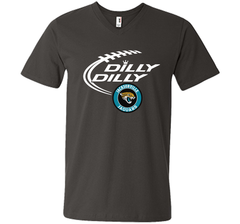 DILLY DILLY Jacksonville Jaguars shirt Men Printed V-Neck Tee - PresentTees