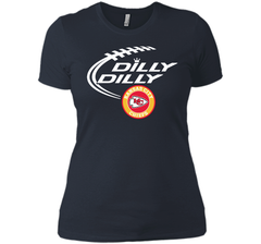 DILLY DILLY Kansas city Chiefs shirt Next Level Ladies Boyfriend Tee - PresentTees