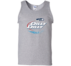 Seattle Seahawks SEA Dilly Dilly Bud Light T Shirt SEA NFL Football Gift for Fans Tank Top - PresentTees