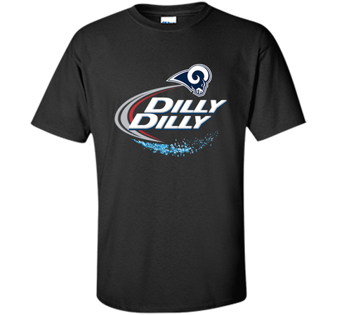 Los Angeles Rams Dilly Dilly Bud Light T-Shirt LAR NFL Football Team Gift for Fans Black / Small Custom Ultra Cotton Tshirt - PresentTees