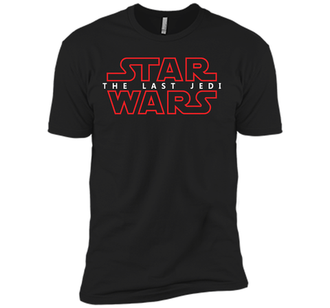 Star Wars Last Jedi Red Outline Logo Graphic Black / Small Next Level Premium Short Sleeve Tee - PresentTees