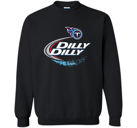 Tennessee Titans Dilly Dilly T-Shirt NFL Football Gift for Fans Black / Small Crewneck Pullover Sweatshirt 8 oz - PresentTees