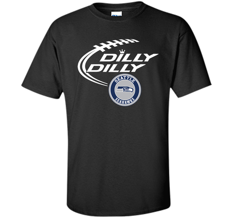 DILLY DILLY Seatle Seahawk shirt Black / Small Custom Ultra Cotton Tshirt - PresentTees
